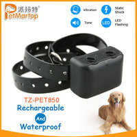 2015 big discount hot sale promotion no-barking collar for dogs electronic training collar pets