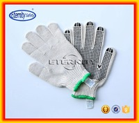 green color overlock 10G pvc dotted glove single dots
