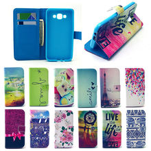 Flip leather case for samsung galaxy a3, wallet cover for Samsung A3
