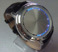 2014 new product Fashion Cool Touch Screen LED Binary Wrist Watch for Men
