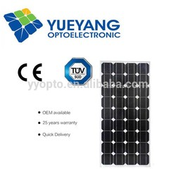 High power 100 watt mono solar panel for sale