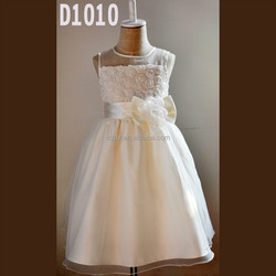 2015 fashion design ivory lace flower girl wedding dresses wholesale party dress for 3years old girl