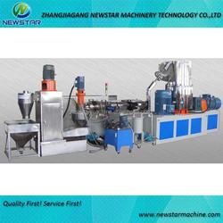 PE PP film recycle pelletizing plastc granules cutting machine