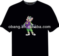 2014 Best quality flashing led t shirts music EL t- shirt