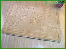 Comfortable soft touch microfiber washable door carpet