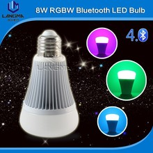 led bulb smart lighting & bluetooth rgb led smart bulb & rgbw bulb with android/IOS bluetooth control