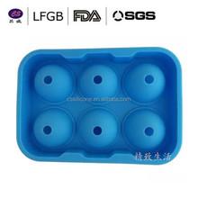 Desechable dividido 6 cavidad hielo esfera molde escultura de hielo moldes