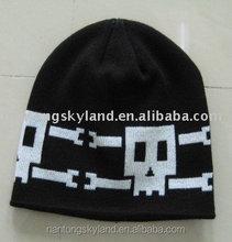 polular new styls of jacquard knited men's fashionable hats