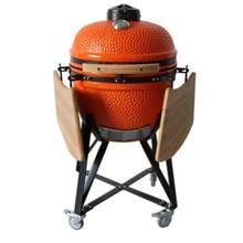 Round shape ceramic kamado smoker grill