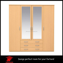 Mirrored double wardrobe with attached small single