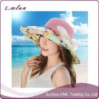 Women fashion folding beach sun hat