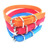 fluo nylon dog collar with metal buckles