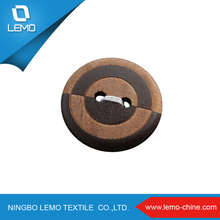 natural custom laser engraved logo imitated wood button Fit DIY Sewing Crafts Decoration