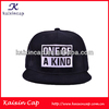 Custom snapback Embroidery Patch Black Cotton fabric high quality custom snapback cap