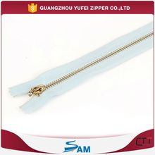 highly polished metal zipper in resonable price