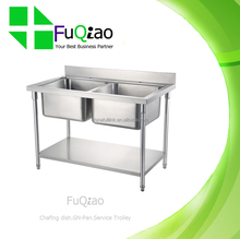 Wholesale Kitchen Stainless Steel Sink Work Table for Restaurant Hotel Family