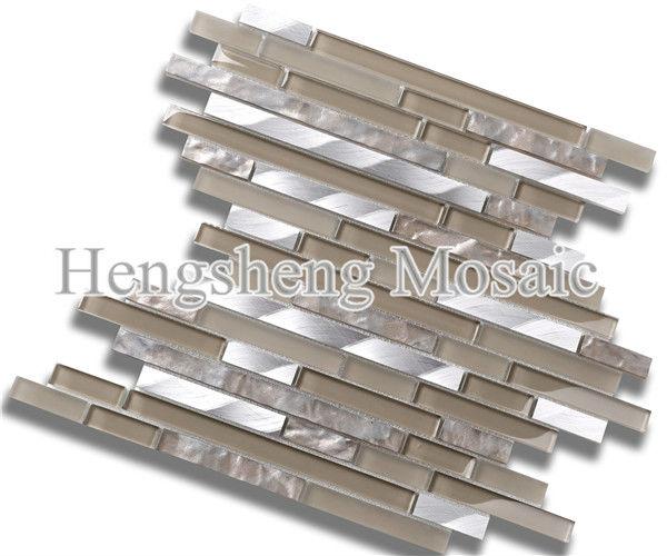 hsd106 aluminium tuiles m lange matt et mosa que de verre. Black Bedroom Furniture Sets. Home Design Ideas