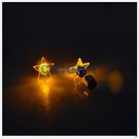 Wholesale Bulk Glitter LED 1 Dollar Earrings