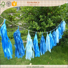 holiday decoration hanging bule set tissue paper streamers