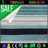 yarn dyed navy blue white stripe 100% polyester knitting fabric