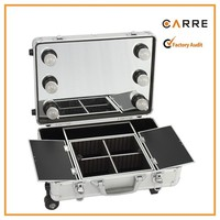trolley professional LED train makeup case mirror lighted