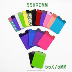 2015 3m microfiber cell phone sticker card holder for decoration