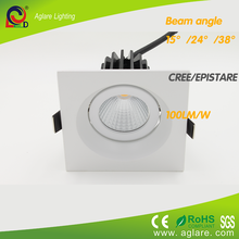 2015 new product square 9w recessed cob led down light