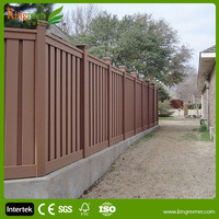 WPC cheap wooden fence panels plastic garden fence horse fence