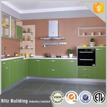 green mdf kitchen unit,solod wood cabinet kitchen