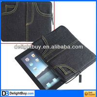 Creative Jean Style Protective Sleeve Inner Bag Case for Apple ipad Tablet PC