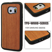 Unique hard case for Samsung S6 edge,wood rubber for Samsung S6 Edge case
