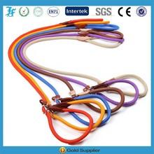Genuine Leathe nylon rope dog leash