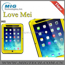 LOVE MEI Powerful AL metal Cell phone case for ipad mini cover , Shockproof Waterproof Rugged Gorilla 6 colors optional