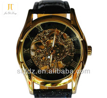 Hollow Mechanical Watches Genuine Leather High Quality Wrist Watch watch no numbers