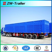 box semi trailer for cargo transportation (close ended, semi closed, open top optional) trailer for sale
