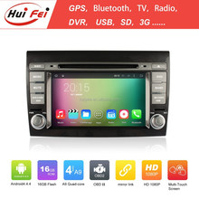 Quad-core 1024*600 Pixel In-dash Car Video For Fiat Bravo (2007-2012) Support 3G Wifi Mirror Link