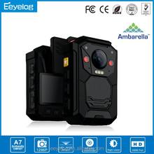 Ambarella A7 police cam police dvr portable night vision video camera wearable camera