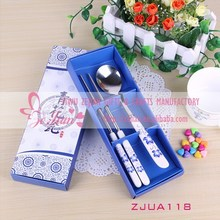 Warm-Grade Porcelain Tableware Of Stainless Steel Spoons Chopsticks In Blue and White For Wedding Ceartive Party Favors & Gifts
