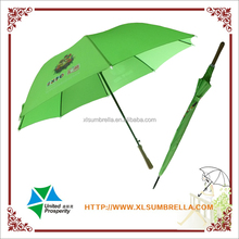 "27"" double fluted ribs promotional golf umbrella, advertising umbrella"