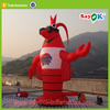 Red cartoon characters giant inflatable lobster with logo