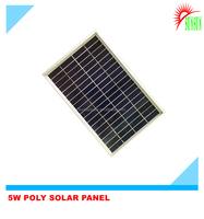 Glass laminated 5W 9V Polycrystalline solar panel