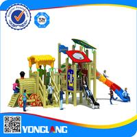 kids wooden train indoor playground equipment with metal slide