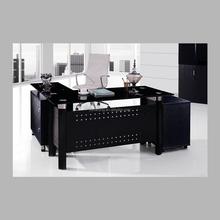 Serviceable metal frame L type executive desk