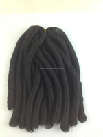 Dreadlock Extensions Soft Dread Lock Kanekalon Hair Braids Curly Synthetic Hair Extensions For Black Women