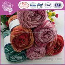 Eco-friendly wool/bamboo fiber knitting yarn