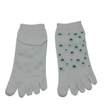 YS-26 White Mesh Women Ankle Five Toe Socks, Cotton Five Fingers Toe Socks