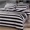 Home textile ,100% Cotton 4Pcs stripe/white black/dot/decor Bedding Sets(Pillow Case+Fitted sheet+Duvet Cover)