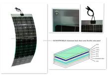 Custom Design low price flexible solar panel 200w
