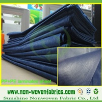 PP non woven fabric coated with PE for Waterproof shopping bag and Hospital bed sheet
