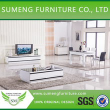 South Africa fancy white tempered glass coffee table/ pictures of coffee table wood furniture
